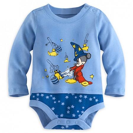 DisneyStore enterizo Mickey Mouse Hechicero manga larga 100% algodón para bebé niño de 12 a 18 Meses