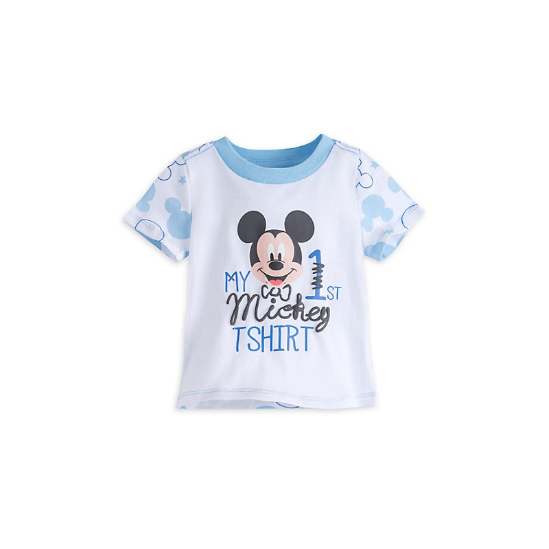 8e4d0cd4b43 DisneyStore camiseta manga corta 100% algodón con gráfico de Mickey Mouse  para bebe niño de 9 a 12 meses