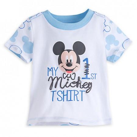 DisneyStore camiseta manga corta 100% algodón con gráfico de Mickey Mouse para bebe niño de 9 a 12 meses