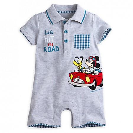DisneyStore enterizo tipo mameluco 100% algodón de Mickey Mouse y Pluto para el bebé niño de 12 a 18 meses