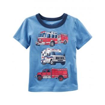 158ff3eeb Carters camiseta manga corta 100% algodón con gráfico de un camión de  bomberos para bebés niño de 18 a 24 Meses