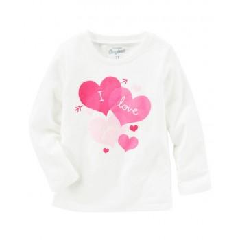 c21eeea414 OshKosh camiseta manga larga 100% algodón colección Originals i love ...