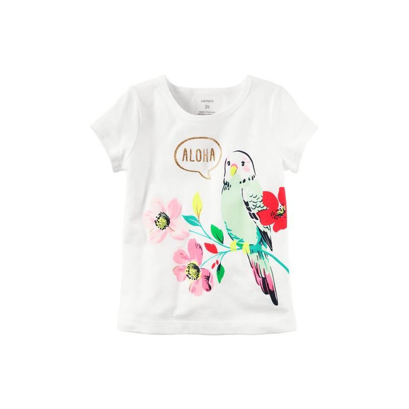 e1ae482c4 Una linda camiseta manga corta para que su niña este lista para la  diversión con esta camiseta con gráfico de loro.