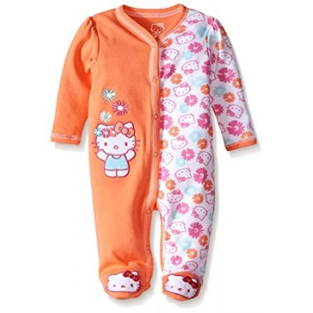 Hello Kitty enterizo 100% algodón modelo fusion coral para bebés niñas de 0 a 3 meses