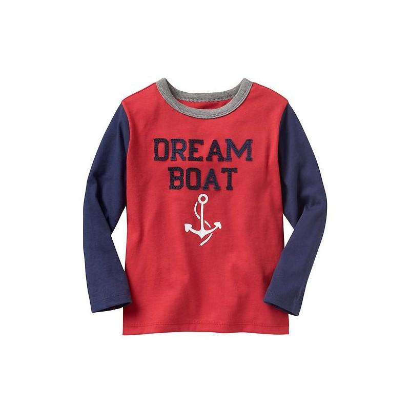Que tu niño se vea lindo y se sienta cómodo con este lindo polo de manga  larga de la marca GAP color rojo b989f84f9e634