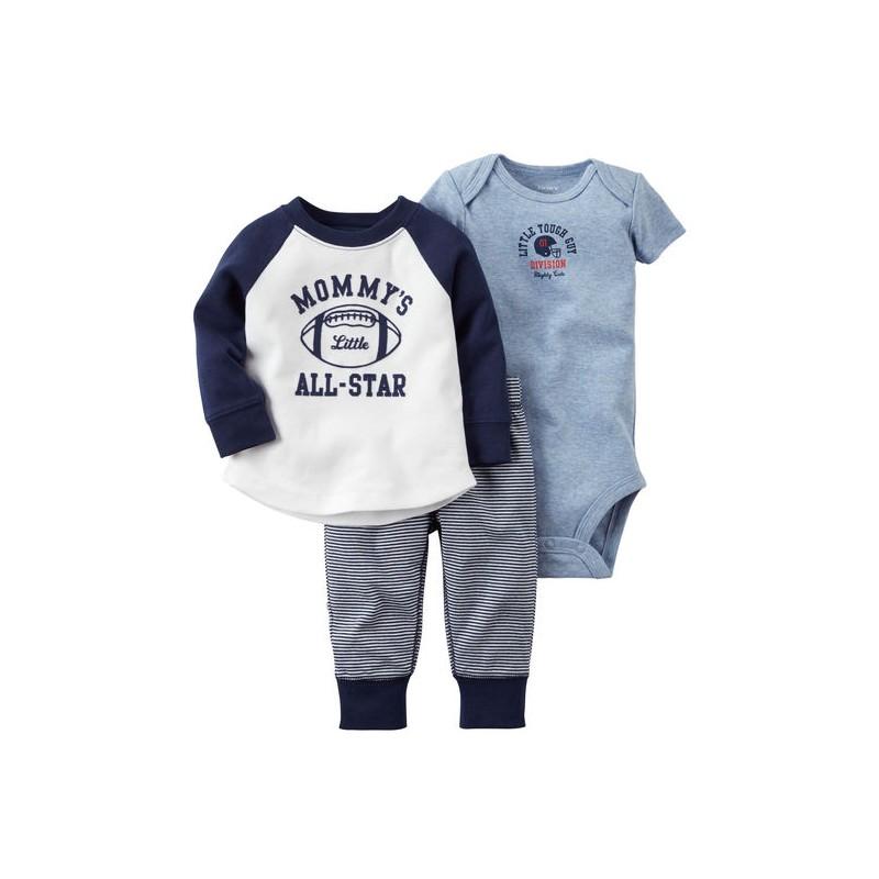 Ropa carter 39 s per pack polo manga larga enterizo pantal n - Quitar mocos bebe 9 meses ...