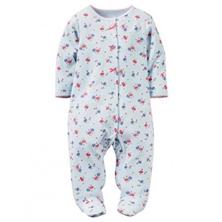 Carter's pijama 1 pieza colección Sleep and Play 100% algodón para bebe niña recién nacida