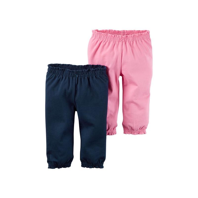14bc2d43d Ropa Carter's Niñas Perú 2 pantalones rosado azul bebé niña 18 meses ...