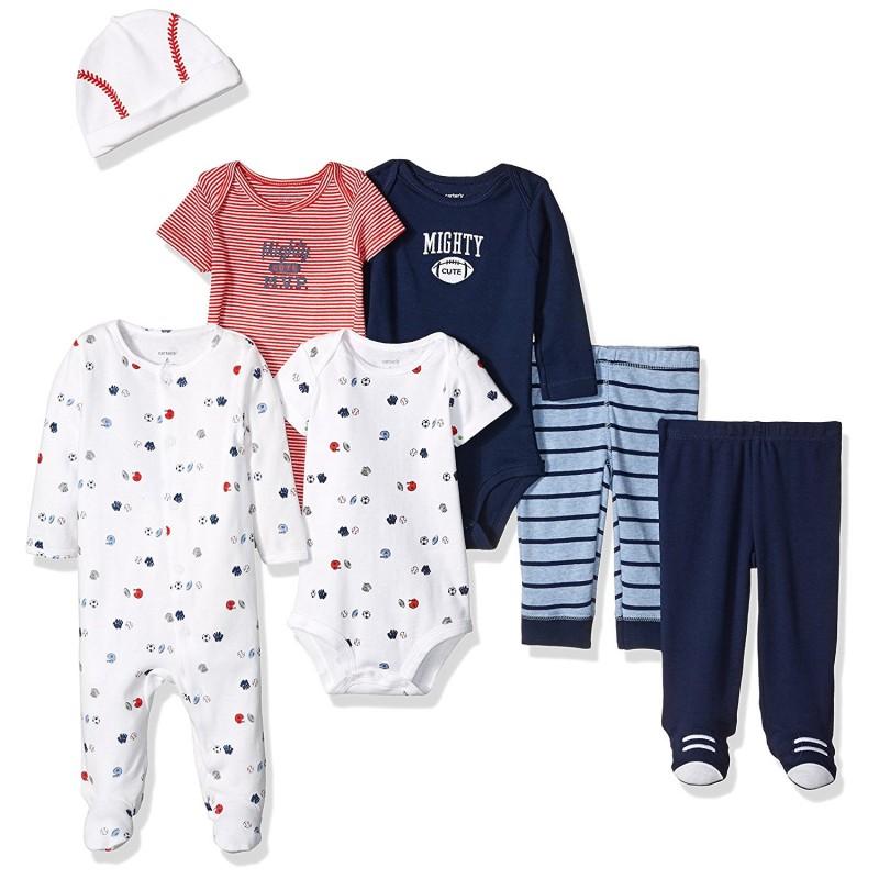 d3bb61cc69d8e Carter s Pack de 7 piezas 3 enterizos + 2 pantalones + 1 pijama + ...