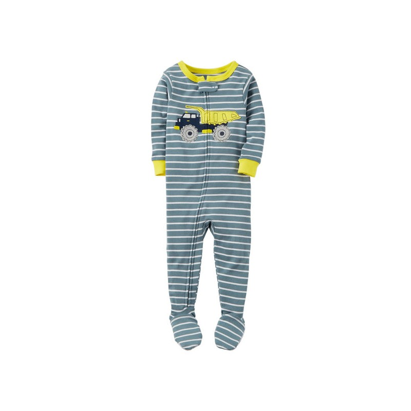 026593f027 Carter s Pijama de 1 pieza 100% algodón tipo Snug Fit color gris para bebé niño  de 18 a 24 meses
