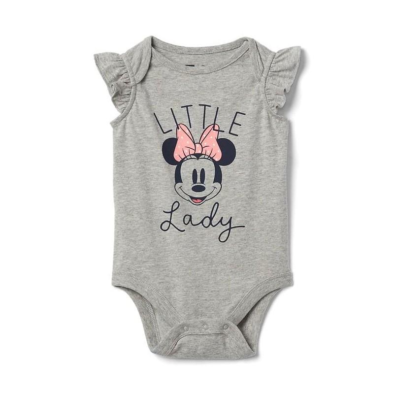 67ef97479 Que tu niña se vea linda y esté cómoda con este lindo enterizo 100% algodón  Baby GAP de homenaje Disney a Minnie Mouse