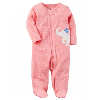 a14a24373 Carter s Pijama footies con cierre tipo enterizo 100% algodón Sleep   Play  para bebé niña de 6 a 9 meses