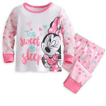 DisneyShop Pijama Minnie Mouse 100% algodón para bebé niña de 9 a 12 meses 6bc6e1b1354d